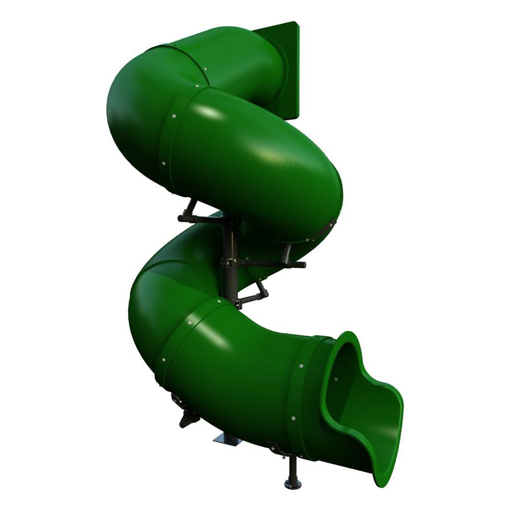 Commercial Grade 10 Feet High Tube Slide Component