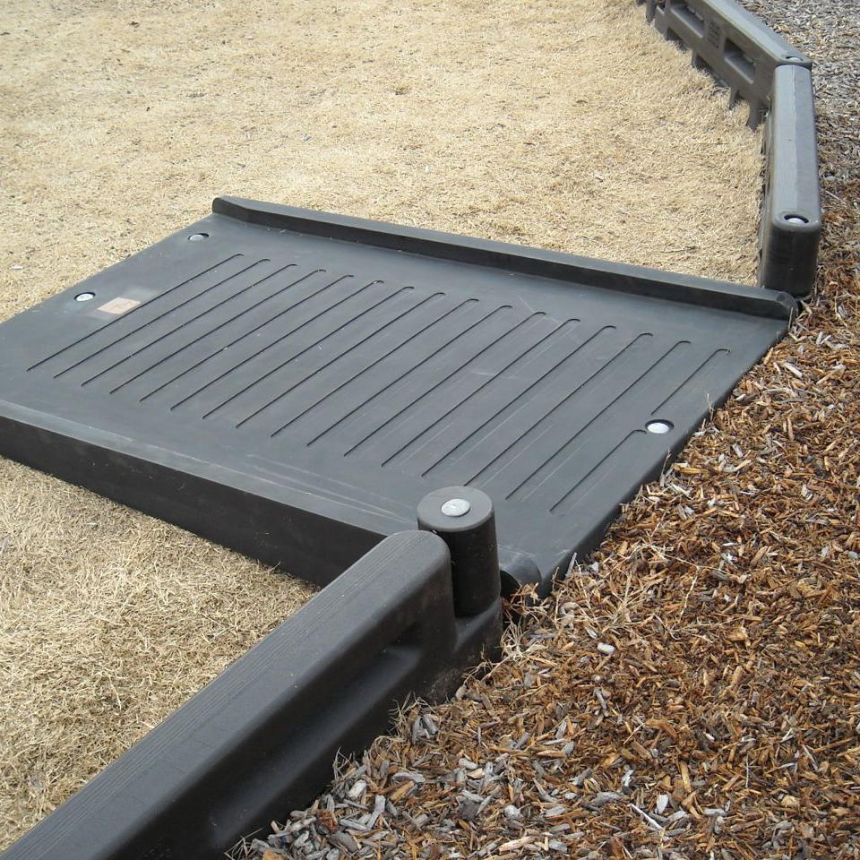 Ada Compliant Parkurb Timber Compatible Half Length