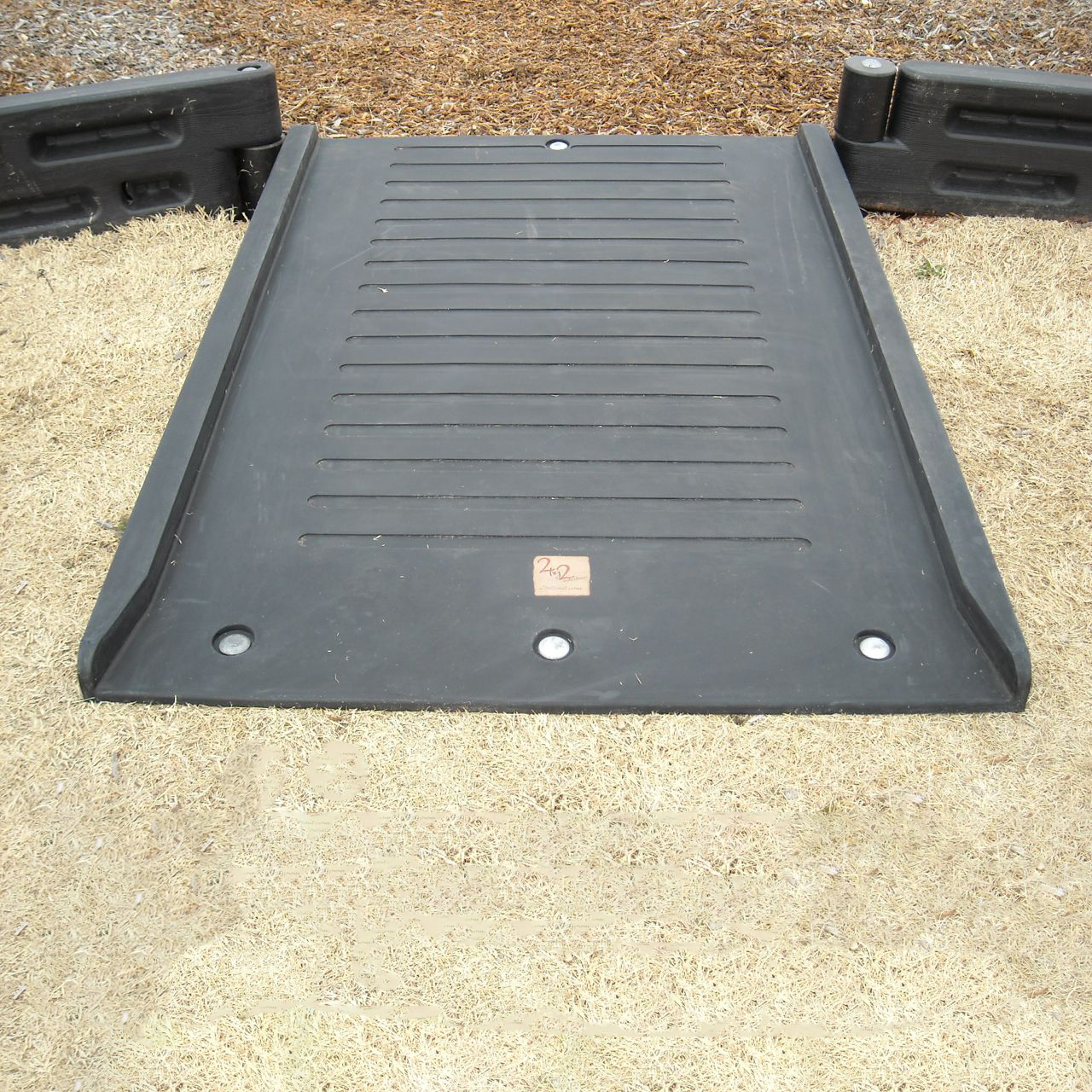 half length parkurb wheelchair ramp by playground equipment dot com
