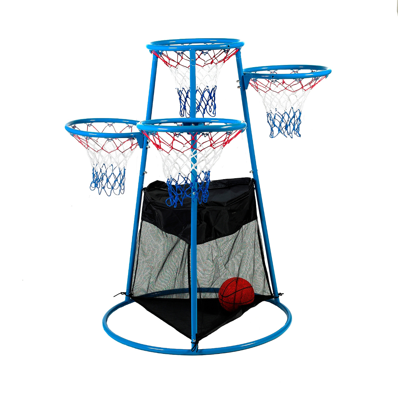 Angeles 4 Rings Basketball Stand With Storage Bag Aaa