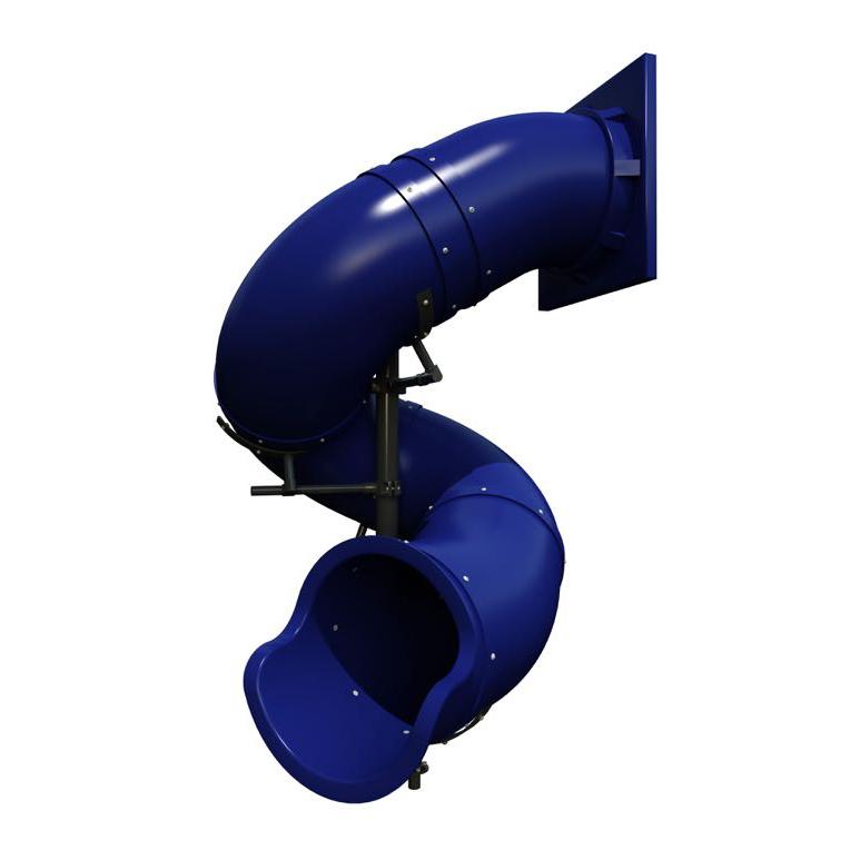7 Feet High Commercial Plastic Tube Play Slide