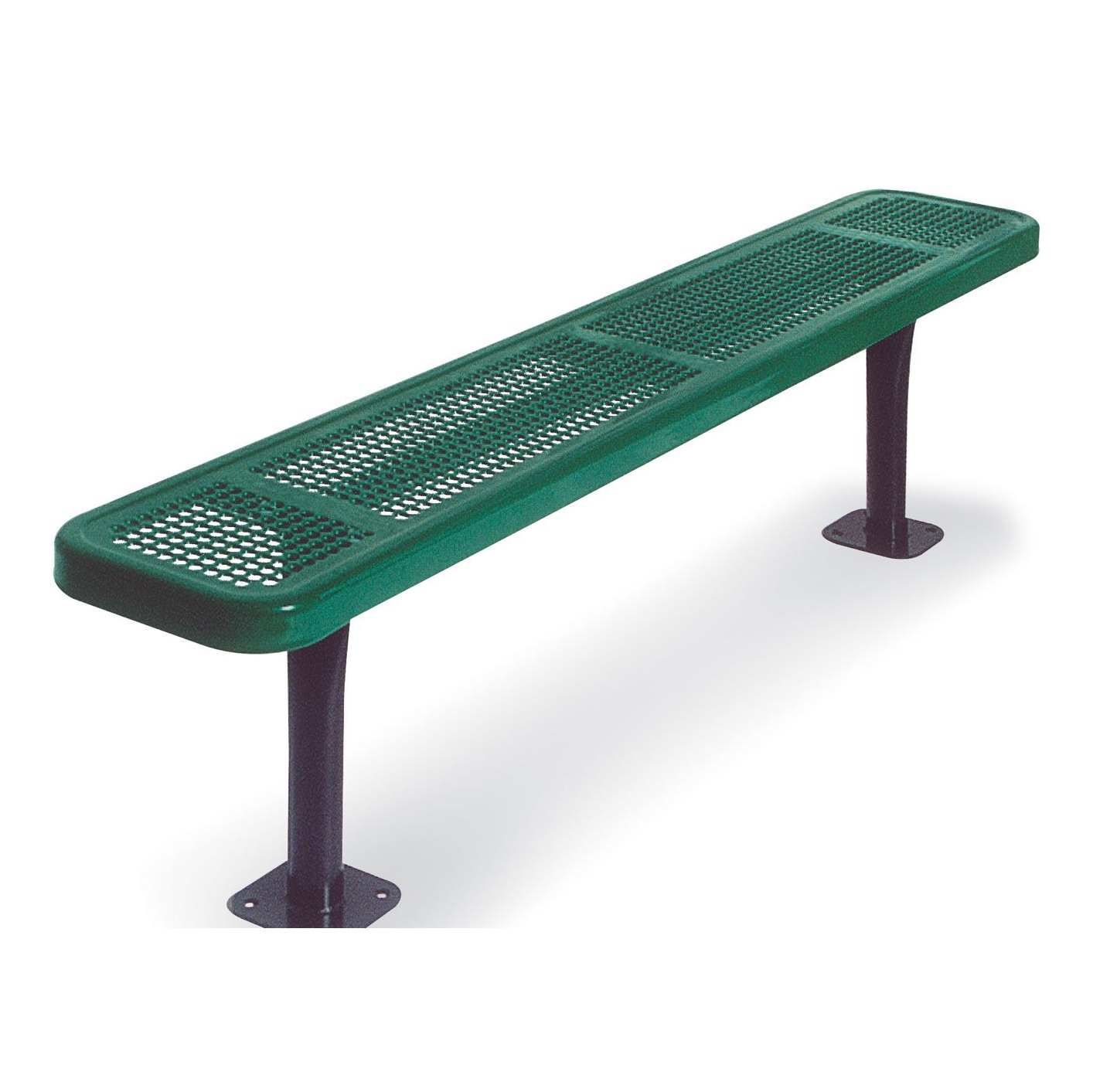 ship quick inground rhino portable expanded mount thermoplastic with metal back surface bench foot rectangular
