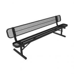 Brt04c19000 Expanded Metal Park Bench With Back Mytcoat