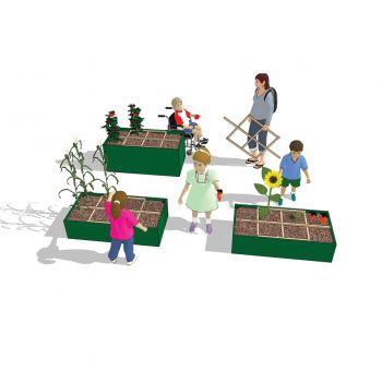 Collapsible Garden Grid with Children
