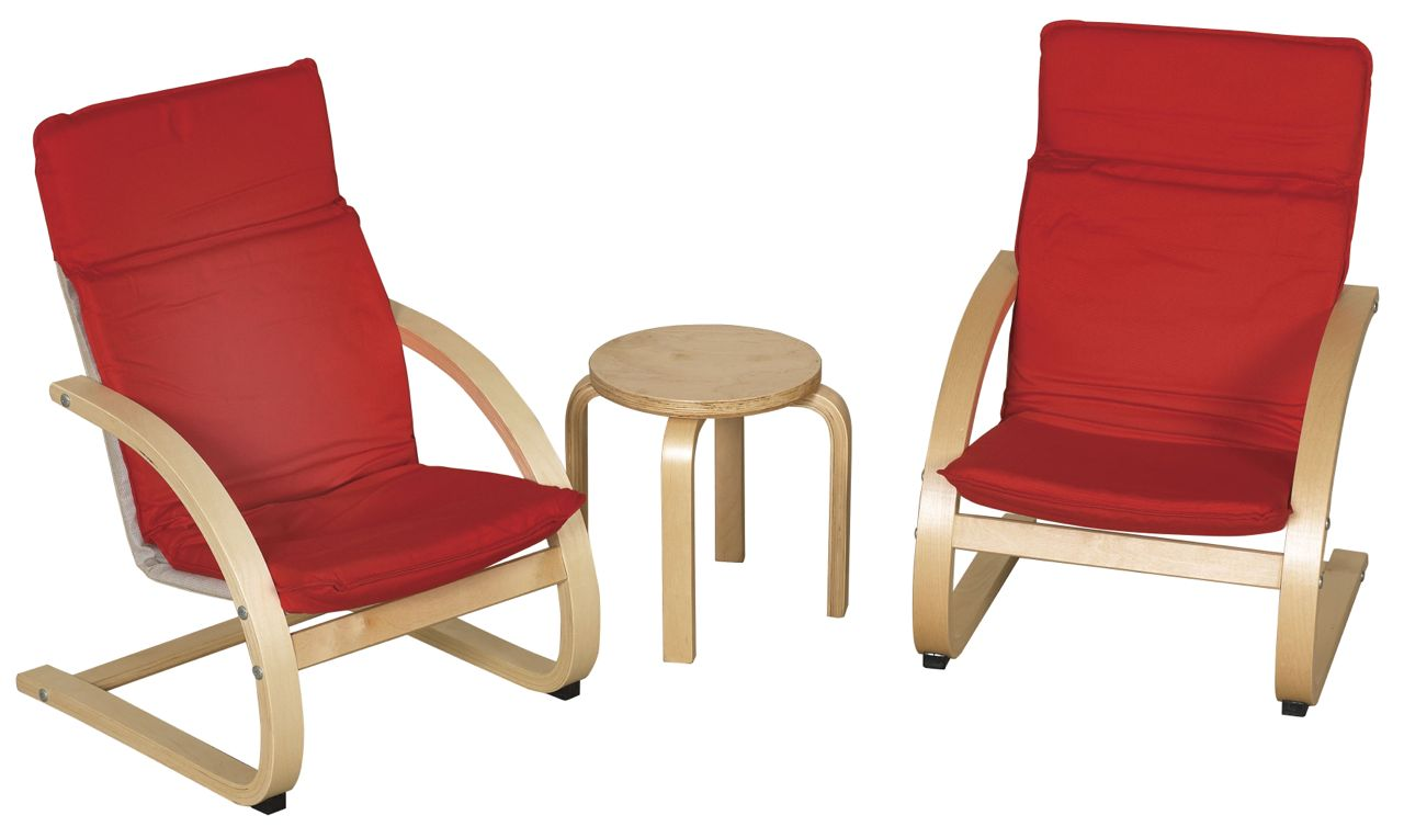 Ecr4kids Bentwood Comfort Chair Set With Table Aaa State