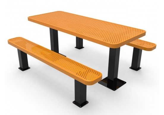 Wondrous Honeycomb Steel Multi Rooted Picnic Table Gmtry Best Dining Table And Chair Ideas Images Gmtryco