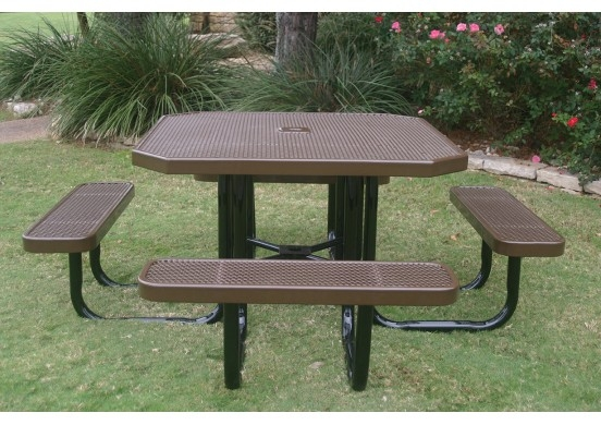 Strange Honeycomb Steel Portable Octagon Table Gmtry Best Dining Table And Chair Ideas Images Gmtryco