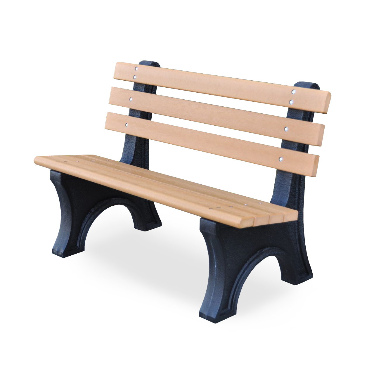 Recycled Plastic Comfort Park Avenue Bench By Jayhawk