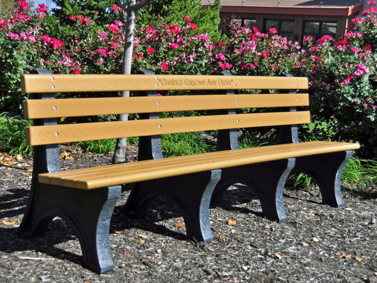 Comfort Park Avenue Bench by Jayhawk Plastics