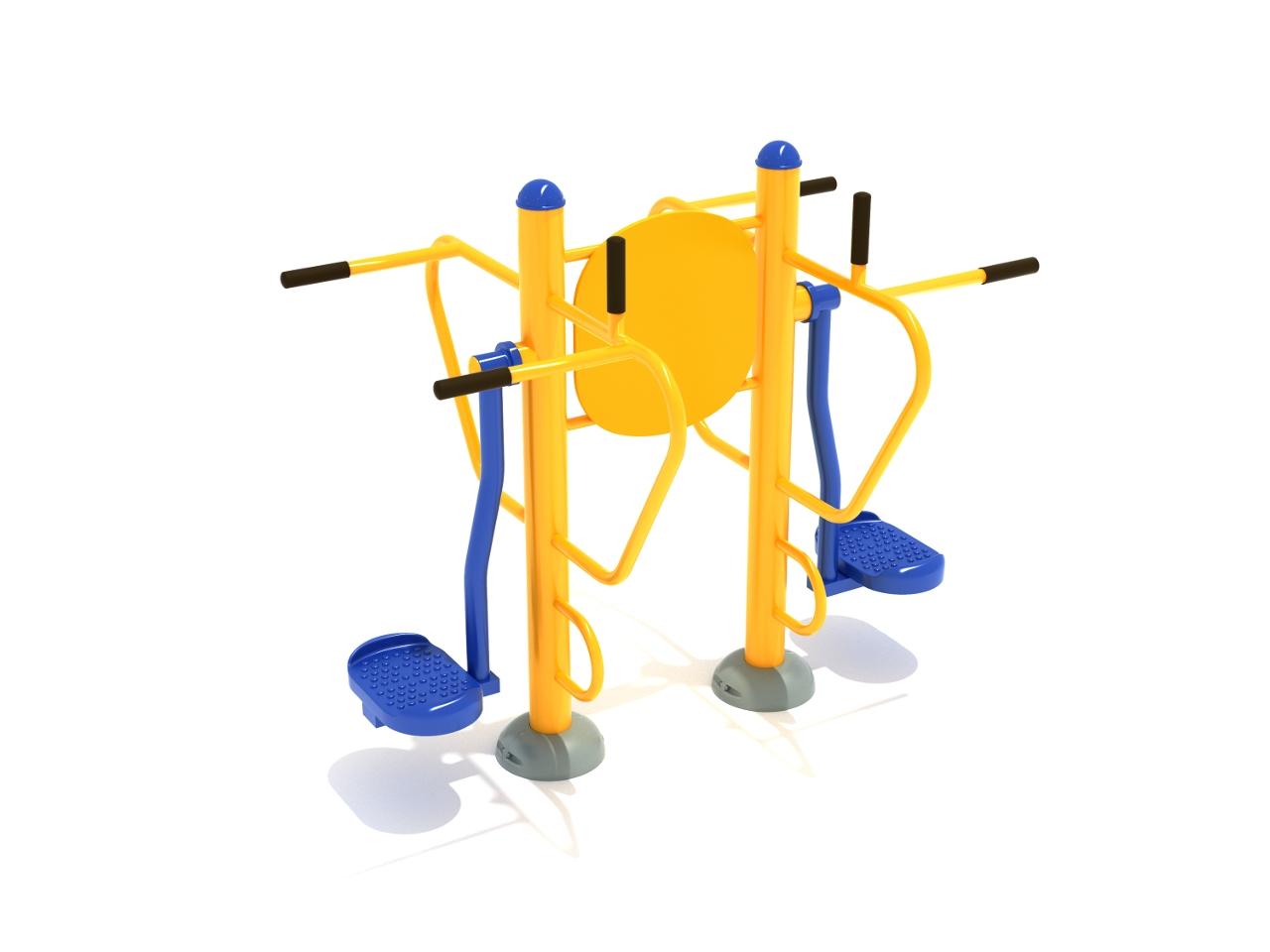 Double Pendulum Swing with Leg Lift