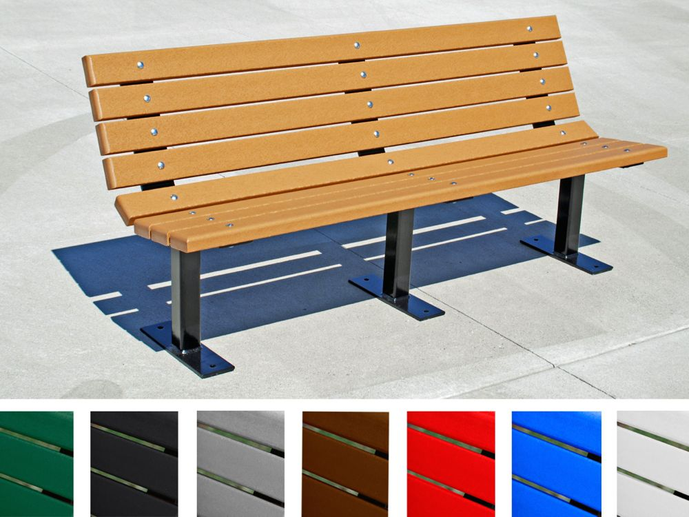 Contour bench by jayhawk plastics outdoor sitting for Outdoor plastic bench seats
