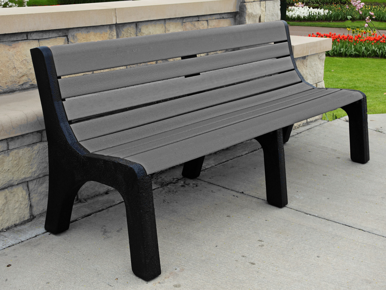 Recycled Plastic Newport Bench By Jayhawk Plastics