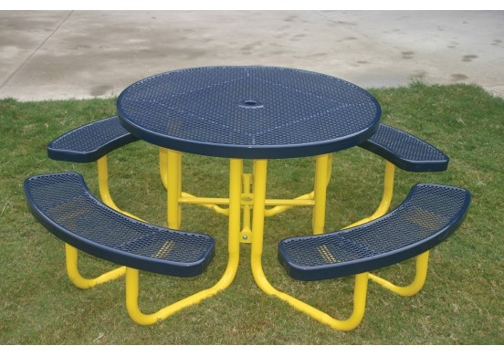 Sensational Honeycomb Steel Portable Round Table Gmtry Best Dining Table And Chair Ideas Images Gmtryco