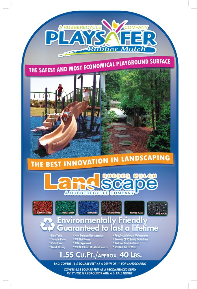 Playsafer Rubber Mulch By The Bag At Low Prices Black Green Red Blue Or Brown Nuggets