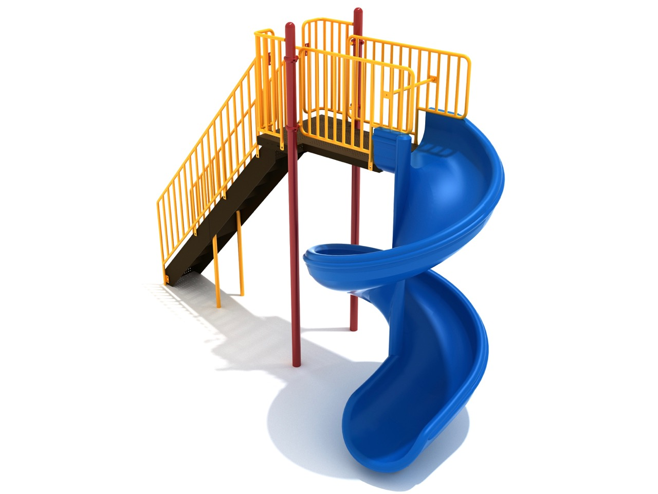 8 foot open spiral slide free standing aaa state of play