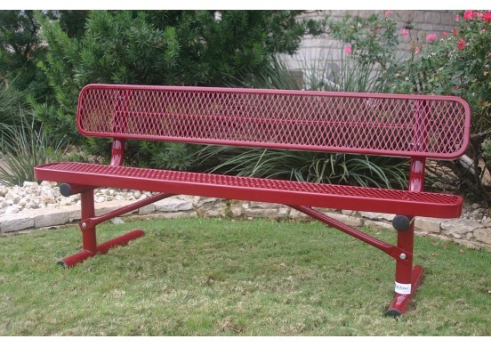 Standard Metal Park Bench With Back By Mytcoat Brt04c19000