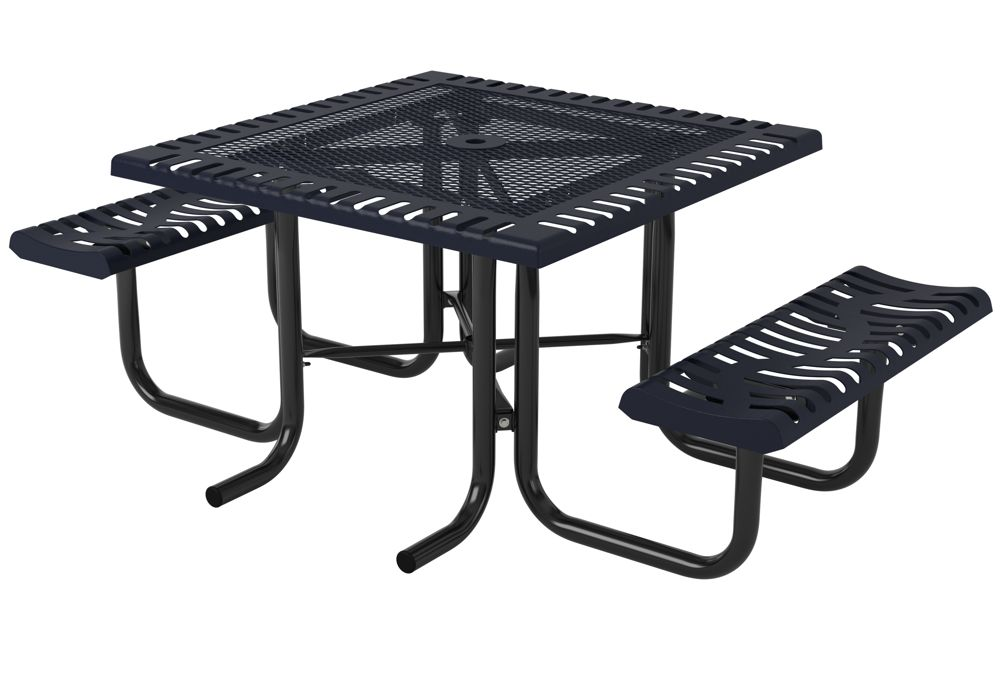 Portable Play Table : Ribbed steel classic square portable table from webcoat