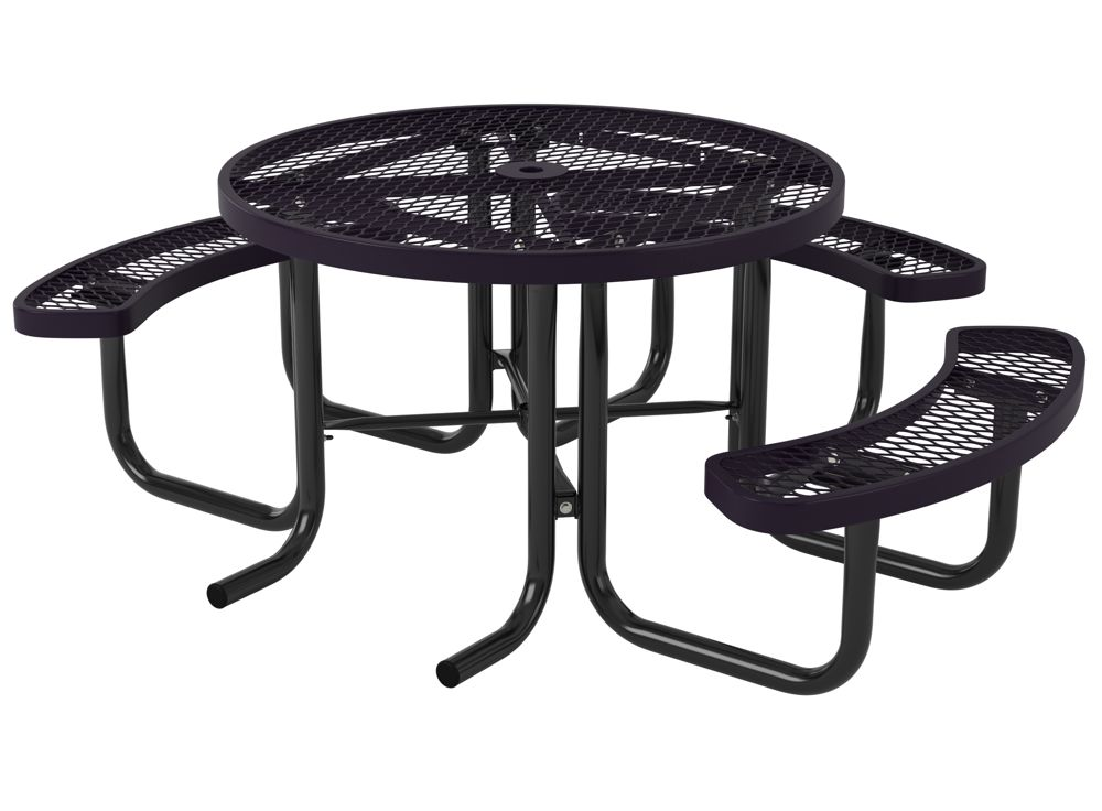 Metal picnic tables massagroup metal frame picnic table plans canada affordable series round portable tables seat uk watchthetrailerfo