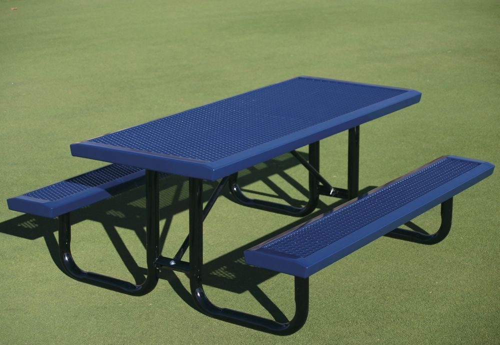 Portable Play Table : Expanded metal sloped edge infinity rectangular