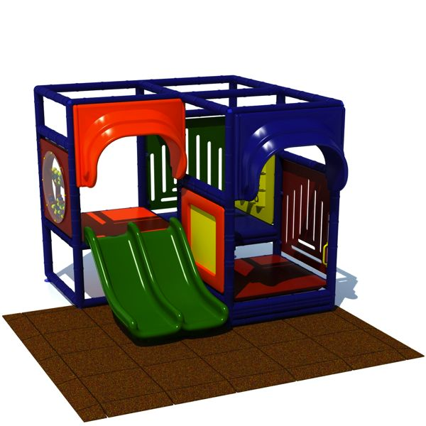 Toddler 2 - Indoor Play Structure with Rubber Tiles
