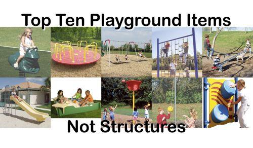 Top Ten Playground Equipment Not Structures